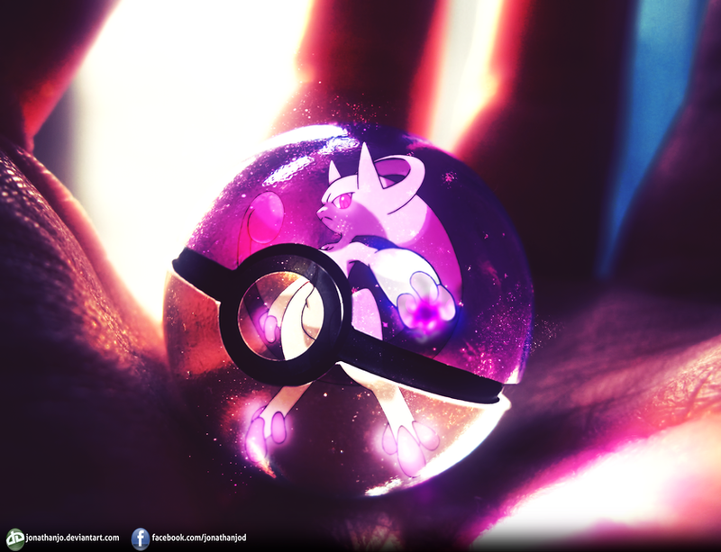 Mewtwo Y into the Pokeball by Jonathanjo