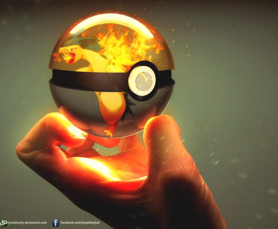 Typhlosion pokeball by Jonathanjo