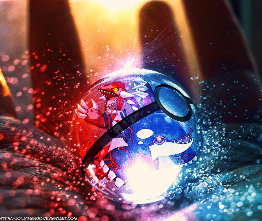 Ruby and Sapphire Pokeball by Jonathanjo