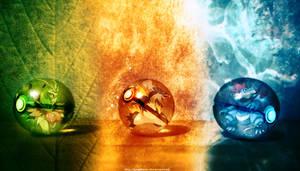 The Pokeballs of Johto Mega Starters