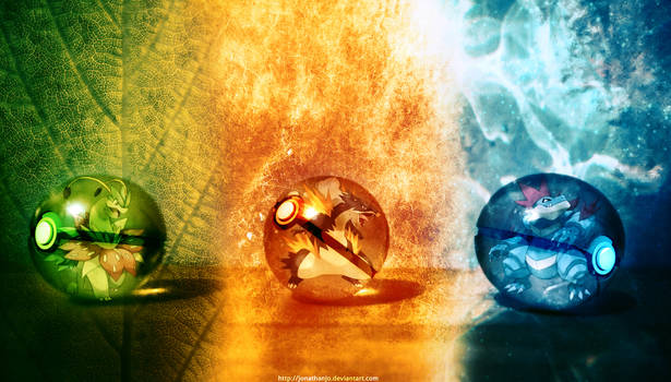 The Pokeballs of Johto Mega Starters