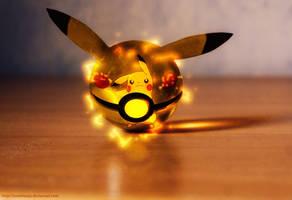 The Pokeball of Pikachu by Jonathanjo