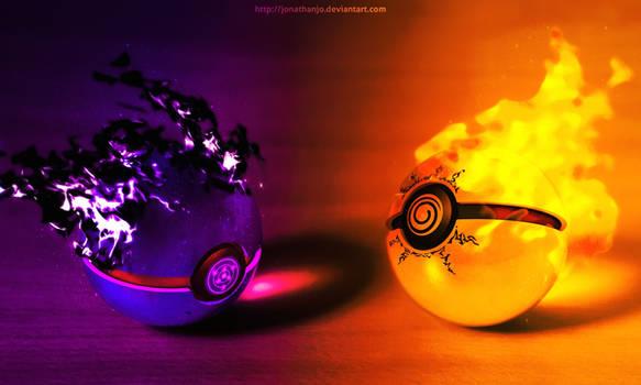 The Pokeballs of Naruto and Sasuke (Tribute)