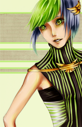 Green Stripes by MyMyMellow