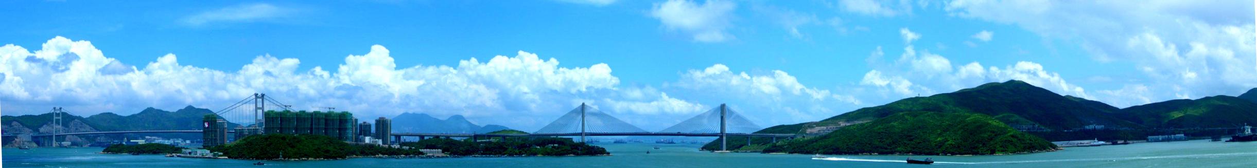 Tsing Ma Bridge by immortalkiss