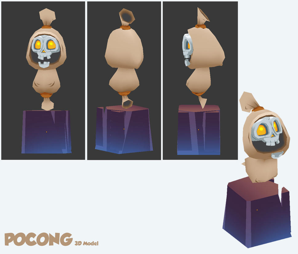 3D Pocong (Ghost) by XaR623