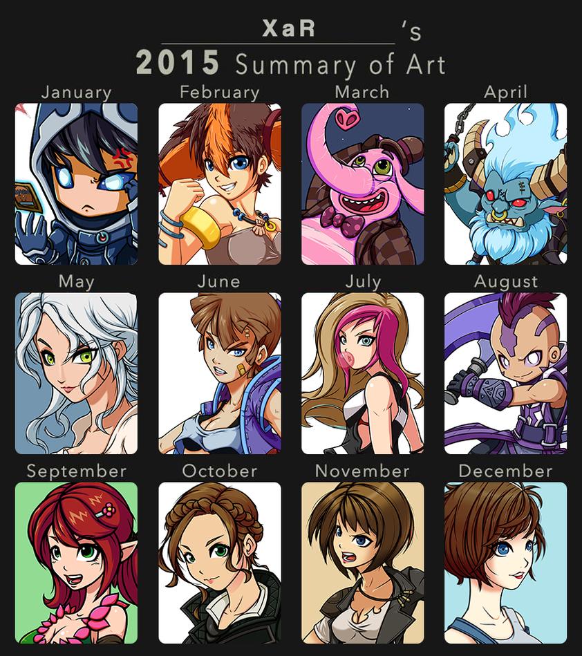 my art summary in 2015 by XaR623