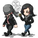 FA The Defenders Daredevil and Jessica Jones