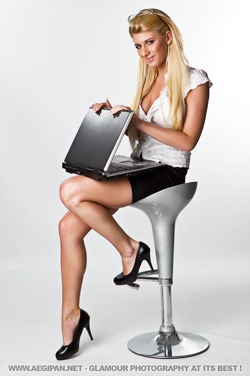 Sexy Accountant Melissa by aegipan