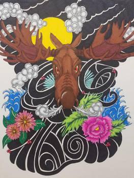 Yakuza-Style Moose Tattoo