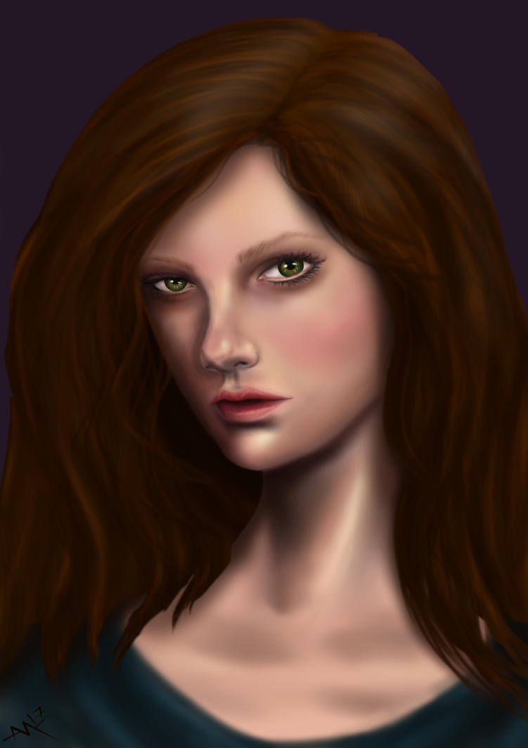 brown haired woman by ALMcNelly