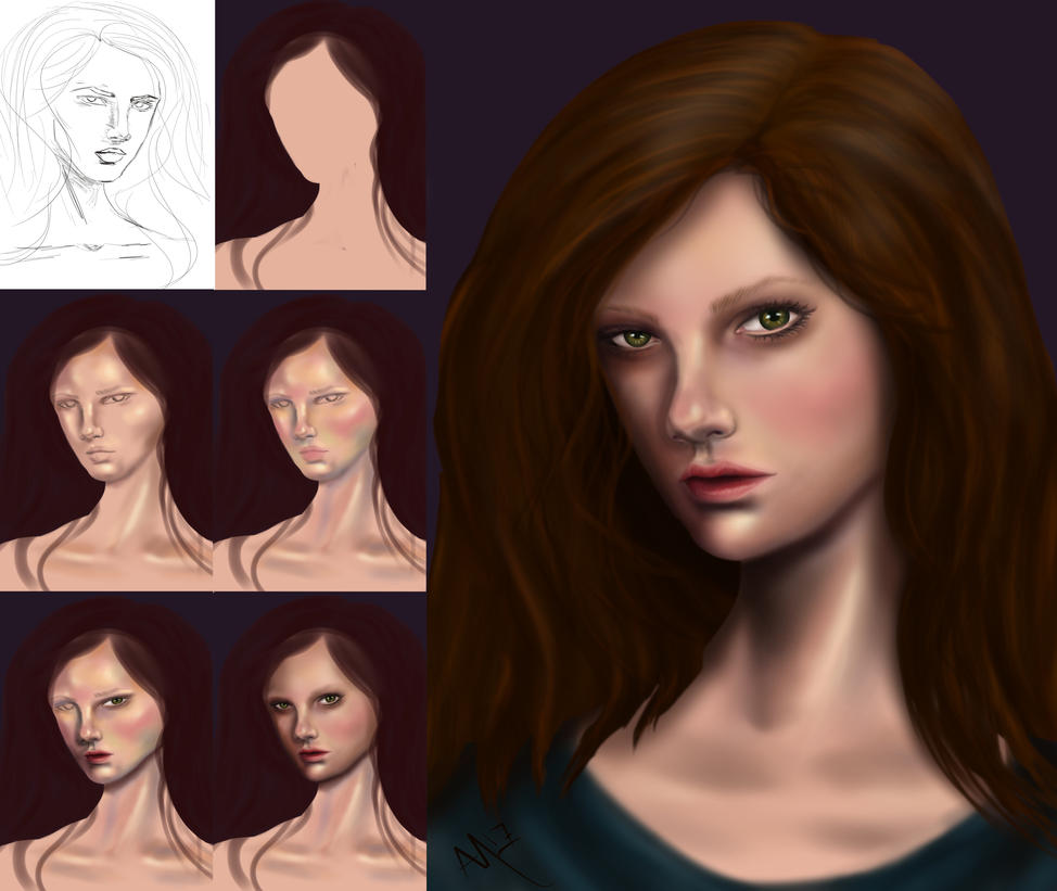 Brown hair process by ALMcNelly