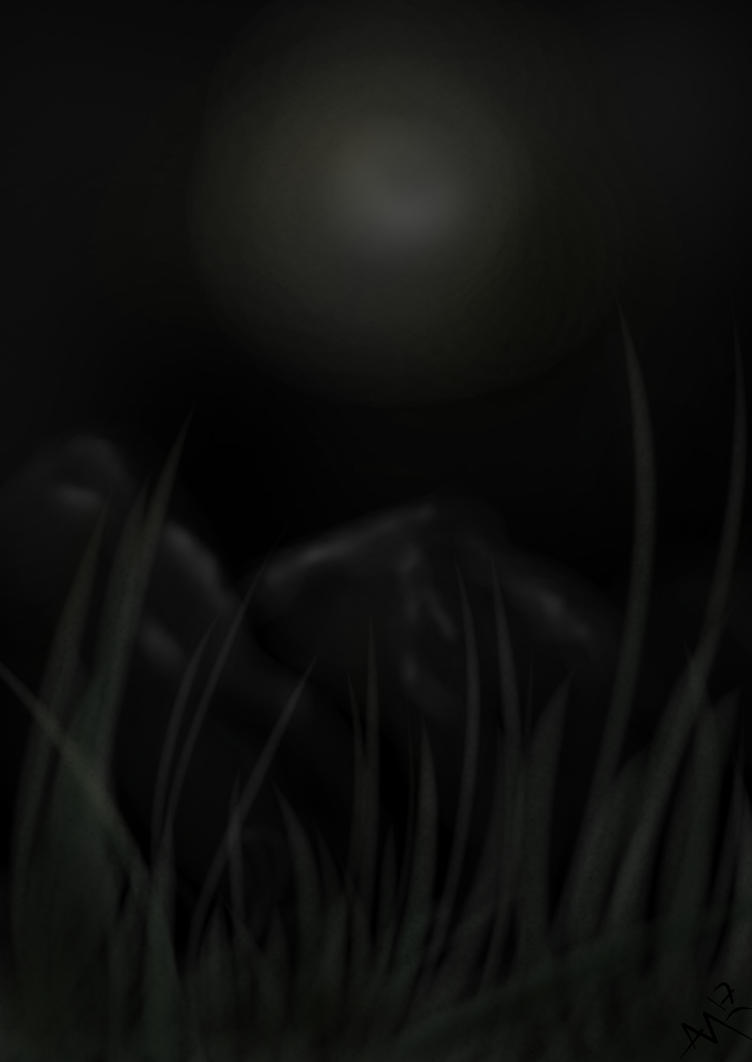 Grass In Moonlight by ALMcNelly