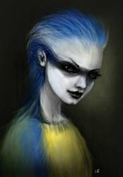 bluetit by lawsdraws