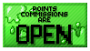 Art Status Stamp - points Commissions : OPEN by SecariTheHalfBlood