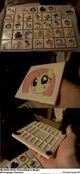 Pony decoupage coasters by darkest-chaos