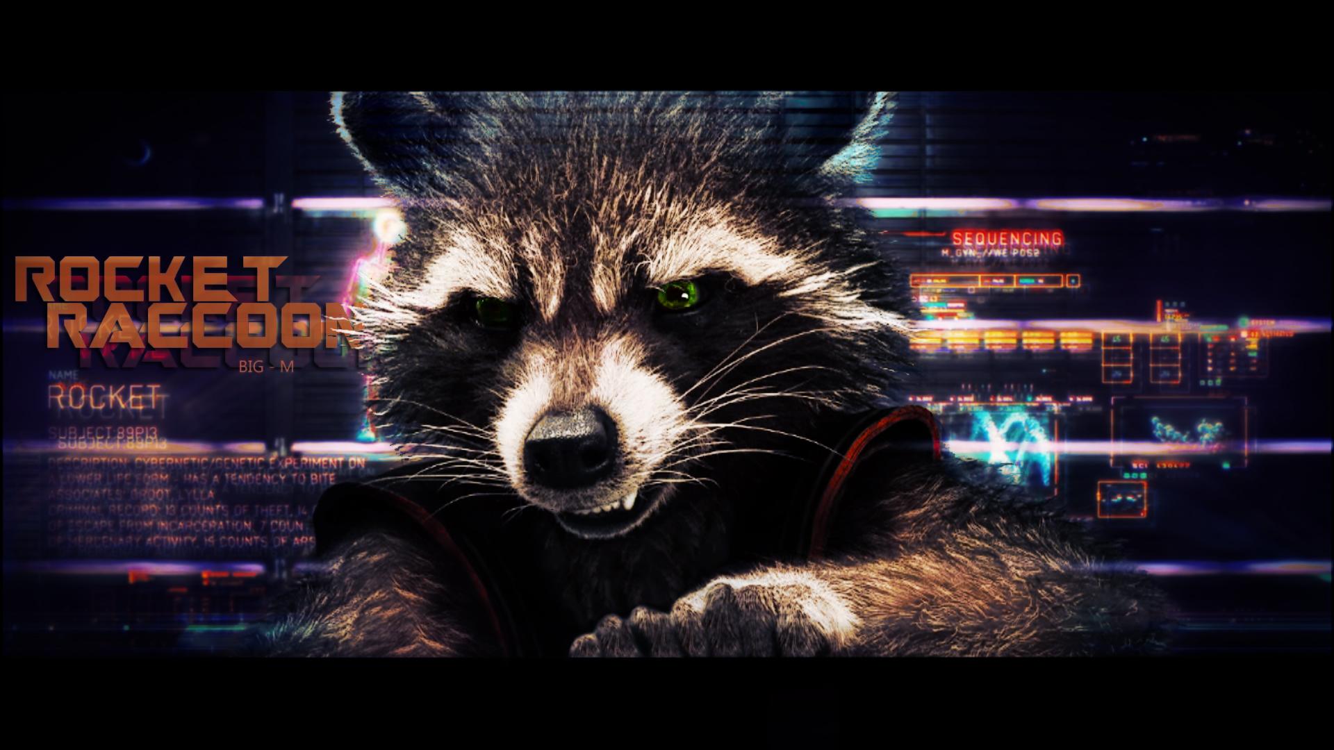 Rocket Raccoon Guardians Of The Galaxy Wallpaper By Biigm On
