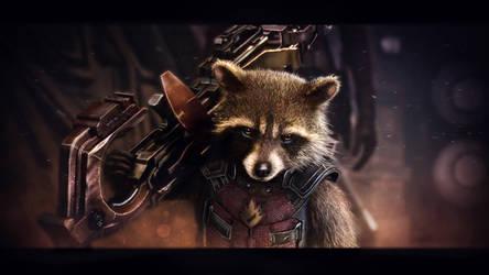 Rocket Raccoon wallpaper (7) by BiigM