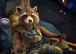 Rocket Raccoon - Digital drawing (3)
