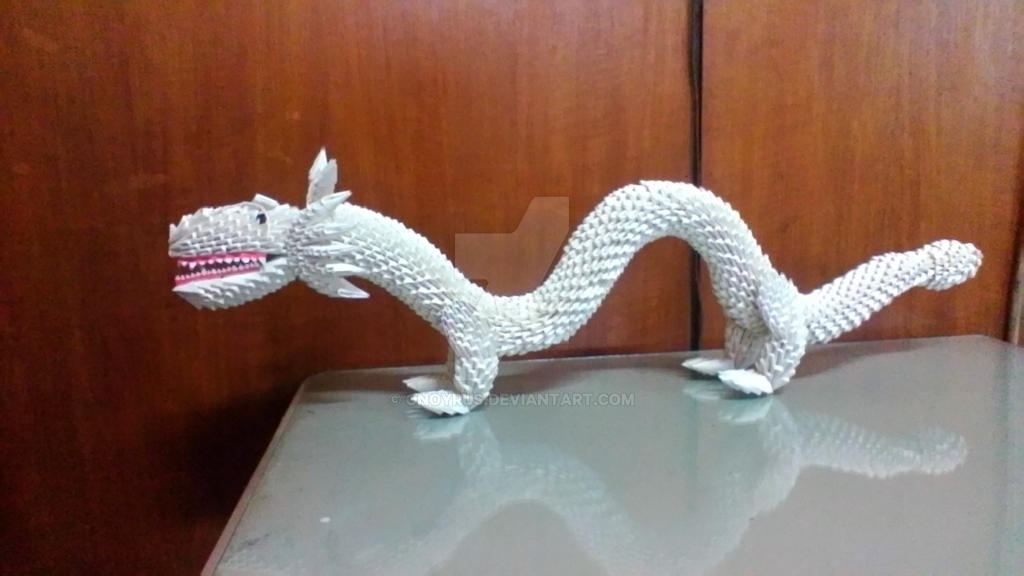 3D origami Chinese Dragon (Remade) | i made it with 1/32 and… | Flickr | 576x1024