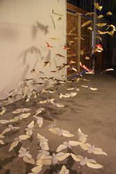 Paper Scarab Installation