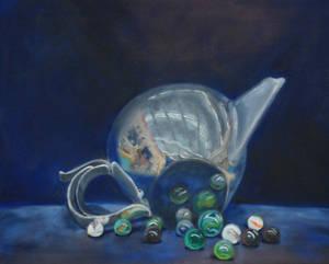 Tea Pot and Marbles