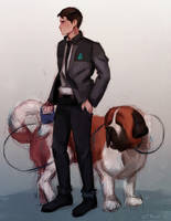 Connor with Sumo by cute-electrocute