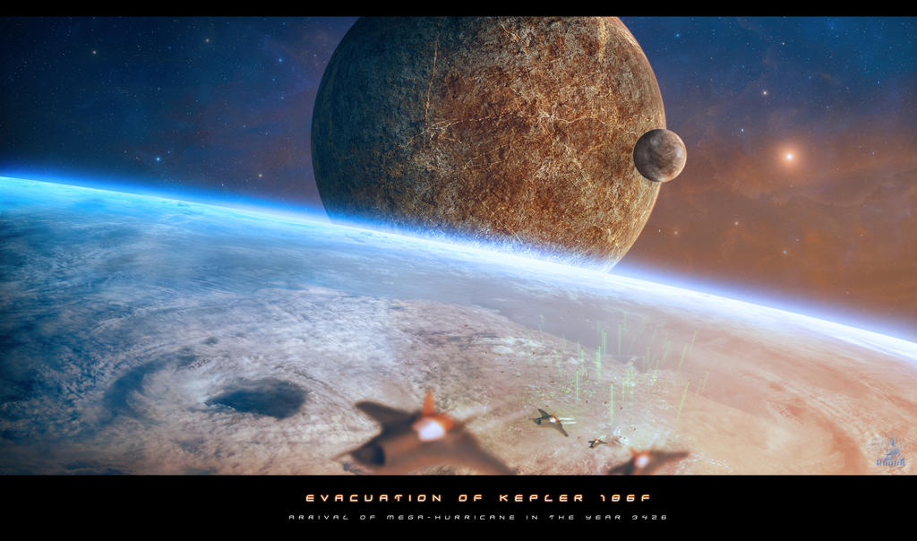 Evacuation of Kepler 186f by BoOdA6tem
