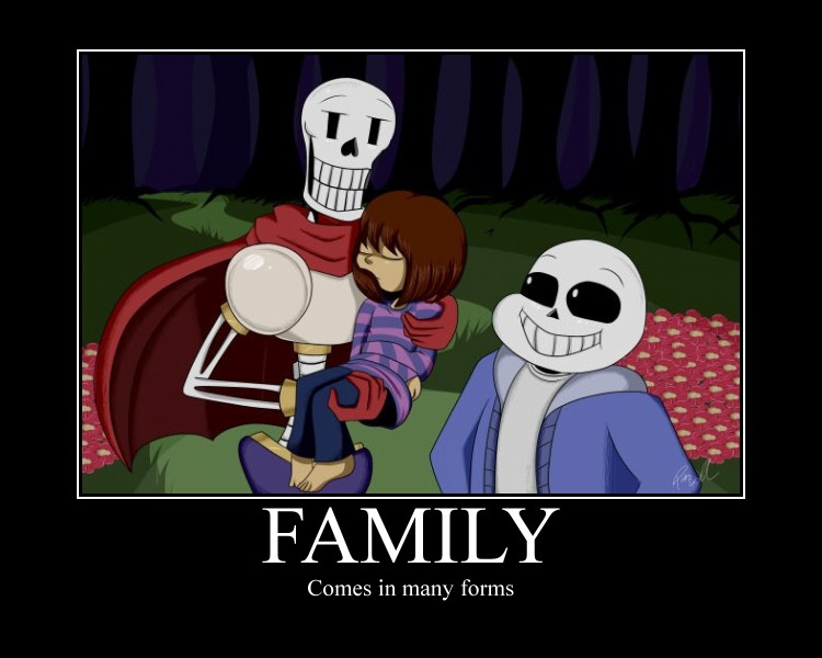 Family Undertale by titanicdragon