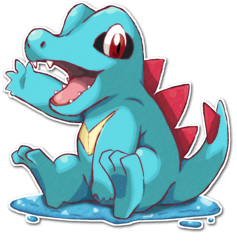 158 Totodile by TrinityWolfDragon