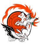 Okami White Wolf Goddess