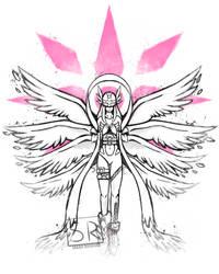Graffiti Angel of Light - Angewomon
