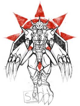 Graffiti Warrior of Courage - WarGreymon SHIRT