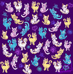 Colourful cats!