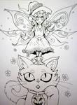 Inktober x 31 Witches Day 13 - Pixie Witch