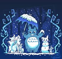 Winter Forest Friends -  Shirt design by SarahRichford