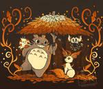 Autumn Forest Friends - shirt design by SarahRichford