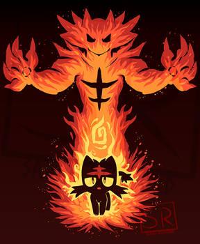 Inner Fire Cat - Litten shirt design