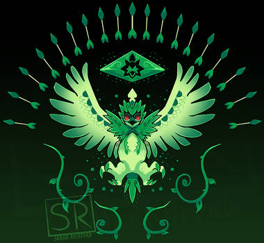 Grass Arrow Strike Decidueye shirt design