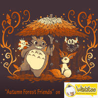 Autumn Forest Friends shirt print *ended* by SarahRichford