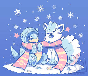 Frosty Forms - Vulpix and Sandshrew