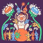 Friendly Alien Flora - Pikmin Shirt design