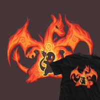 My Charizard is printing over at TeeFury for 24hrs by SarahRichford