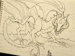 Inktober Day 4 - Dragon