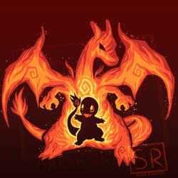 Fire Dragon Within - Charizard Charmander