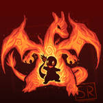 Fire Dragon Within - Charizard Shirt design by SarahRichford
