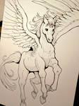 Inktober Day 18 - Pegasus
