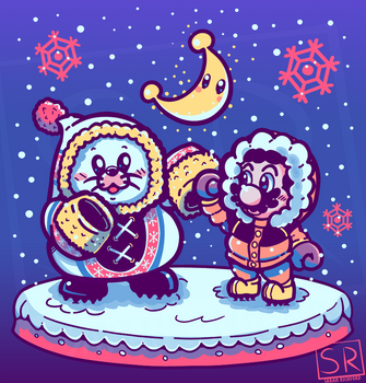 Snow Moon - Mario Odyssey Shirt design by SarahRichford