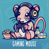 Gaming Mouse - Shirt design by SarahRichford