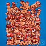 Cappy Party - Mario Odyssey Shirt design (orange) by SarahRichford